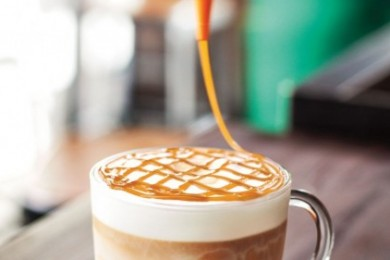 Caramel Brulle latte coffee