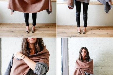 How to wear a scarf in winters