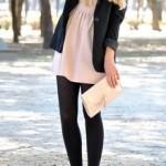 How to wear a short dress in winters