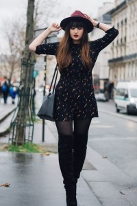 How to wear a short dress in winters