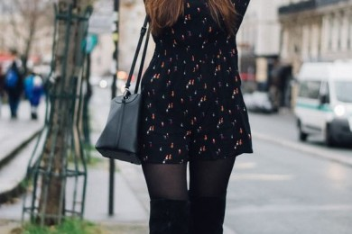 How To Wear Short Dresses In Winters