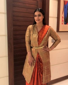 How to wear saree for winter weddings