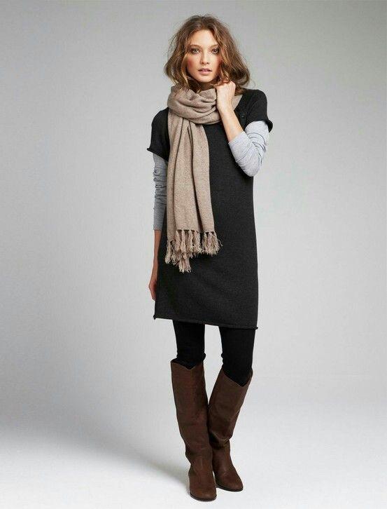 How to wear short dress in winters