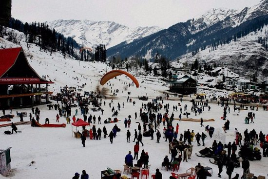 Manali Solang valley, places to visit for snow in January
