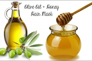 Olive oil and honey hair mask and natural conditioner