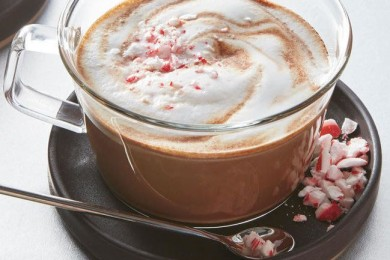 Peppermint mocha latte