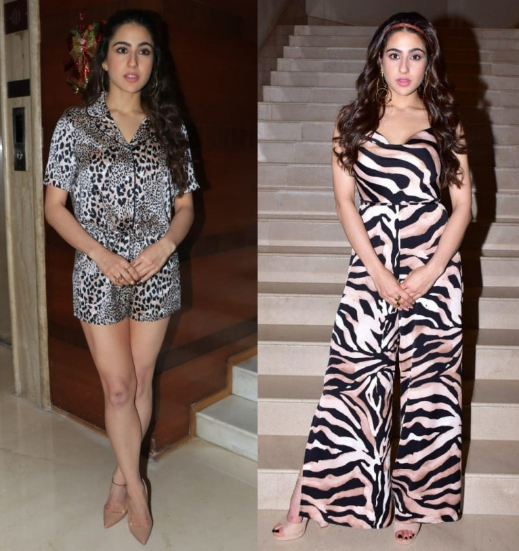 Sara Ali Khan in animal print jumpsuit