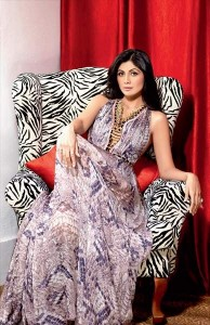 Shilpa Shetty in animal print dress