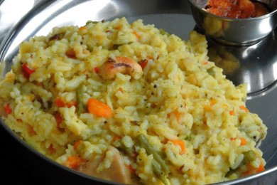 Vegetble pongal recipe