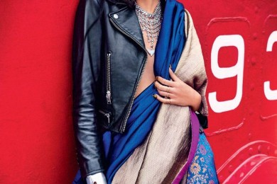 How to wear saree in winters