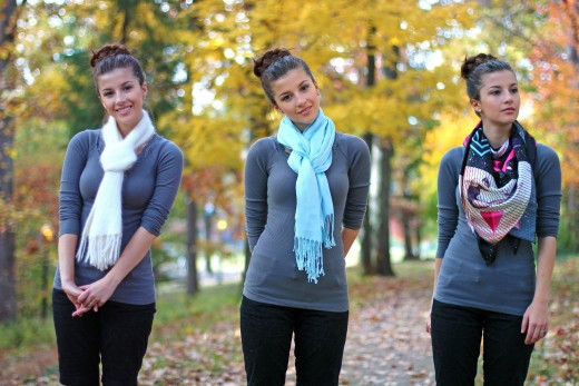 10 ways to tie a scarf in winters