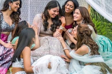 Alia bhatt at friend's wedding
