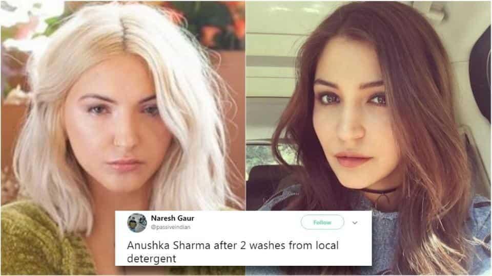 Anushka Sharma meme on finding a doppelganger
