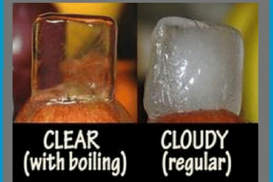 Crystal clear ice with boiled water vs regular water ice