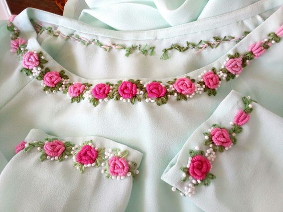 Embroidery ideas for necklines