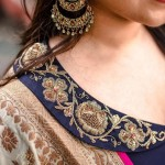 Simple And Compelling Embroidery Styles For Neckline Designs