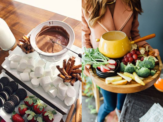 Fondue station for valentine's day party
