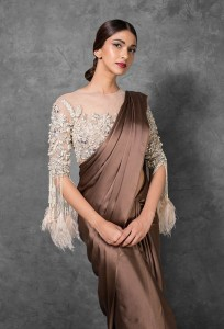 Fringed saree blouse