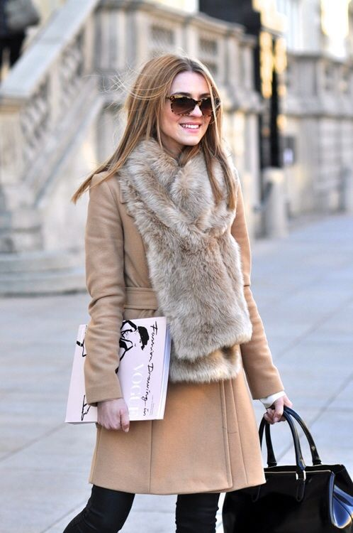 Fur scarf for winter