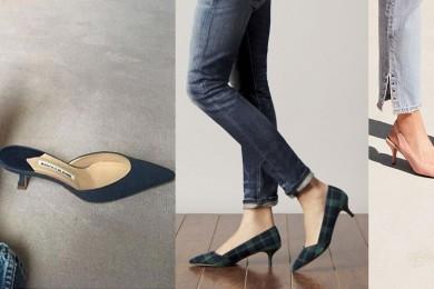 Kitten heels must have footwear pieces