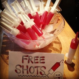 Love shots for valentine party ideas