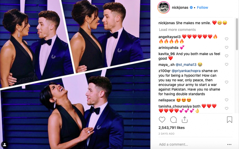 Nick Jonas and Priyanka Chopra at Oscars after party