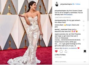 Priyanka Chopra debut at Oscars
