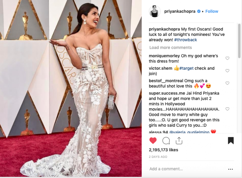 Priyanka Chopra debut at Oscars