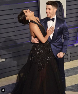Priyanka and Nick Jonas attend the Oscar's after party