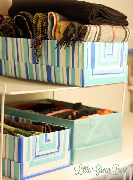 Reuse shoe boxes