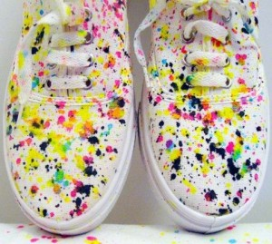 Revamp old sneakers-