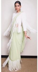 Fringe saree blouse