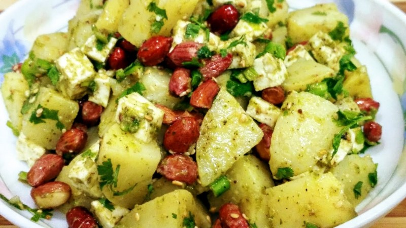 Aloo Peanut chaat for fasting