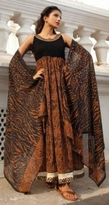 Animal print anarkali for summers
