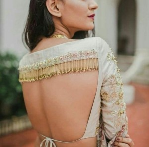Fringed blouses for sarees