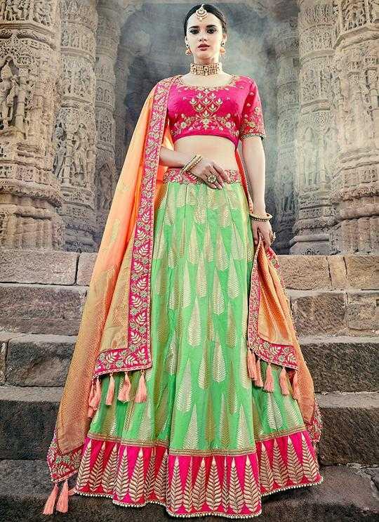 Indian Lehenga Choli Designs for Pre-wedding Functions