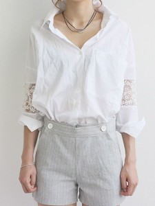 Revamp old white shirt