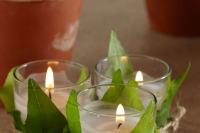 6 Ways To Decorate Home With Real Leaves And Candles