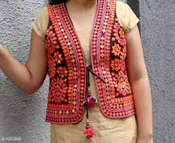 Embroidered Etnic waistcoat for navratri