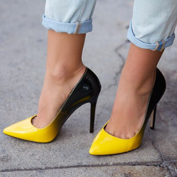 Footwear in bright color for summers