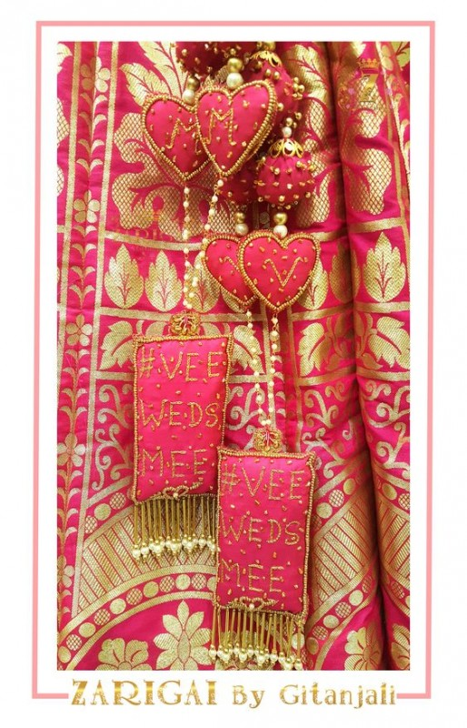 Interesting Latkan ideas for bridal lehngas