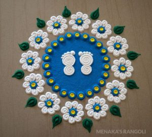Rangoli design ideas for Navratri