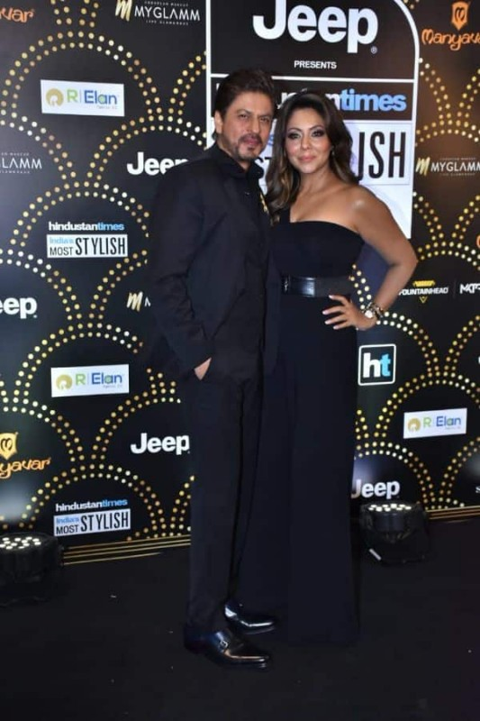 Sharukh Khan with wife Gauri Khan at HT India's most stylish awards 2019