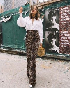 Styling with animal print bottom