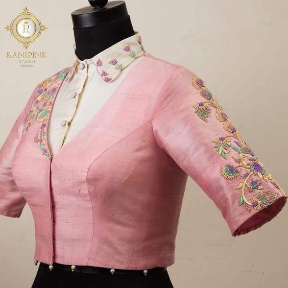 V neck Blouse designs