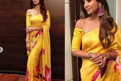 How to wear printed chiffon georgette sarees in summers