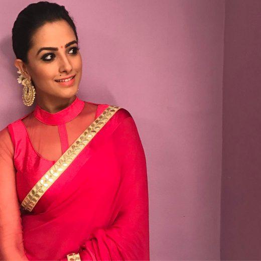 Anita Hassanandani saree blouse