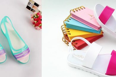 Colorful footwear for monsoon
