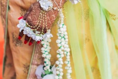 Floral Kaleerein for brides