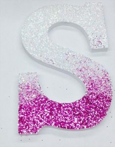 How to create floral letters